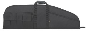 Black tactical rifle case made of nylon