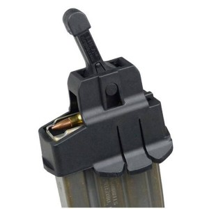 Butler Creek LULA AR-15 magazine loader on top of an AR-15 loaded magazine