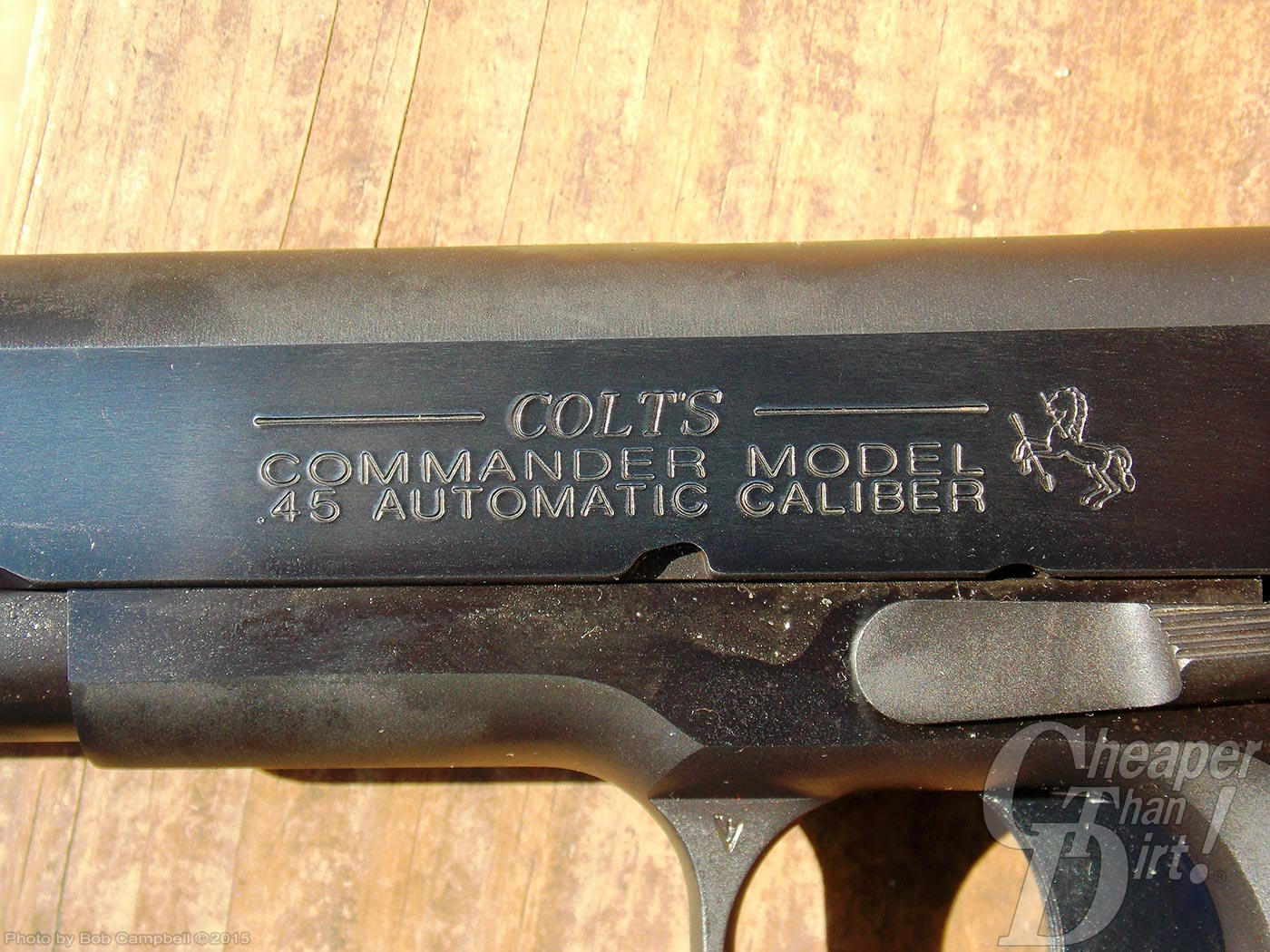 lettering on a Colt Commander slide
