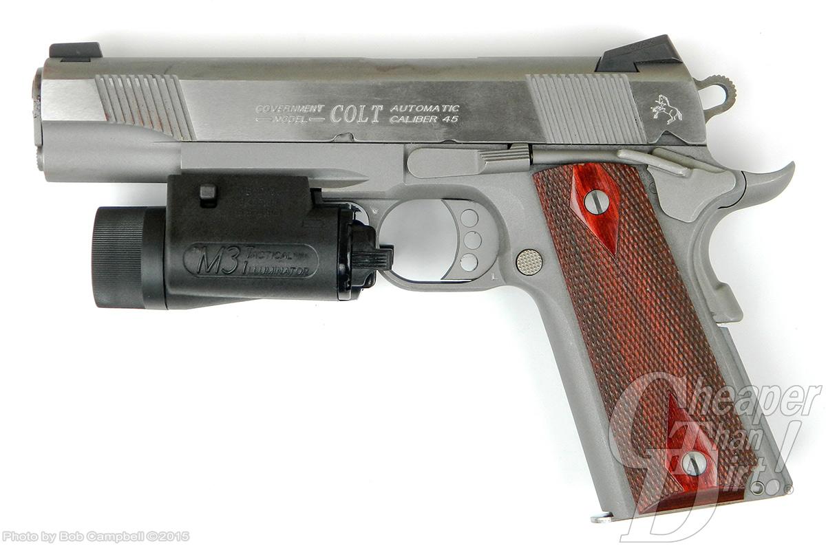 Colt 1911 with M3 Tactical Illuminator