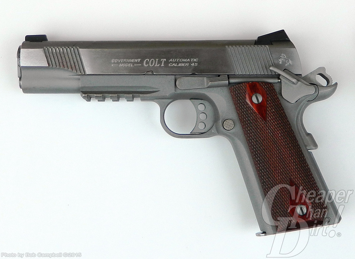 Colt 1911 with rail cocked and locked