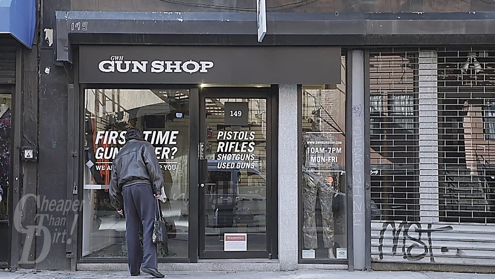 Cheaper than dirt store the gun control crowd has sunk to a new low by