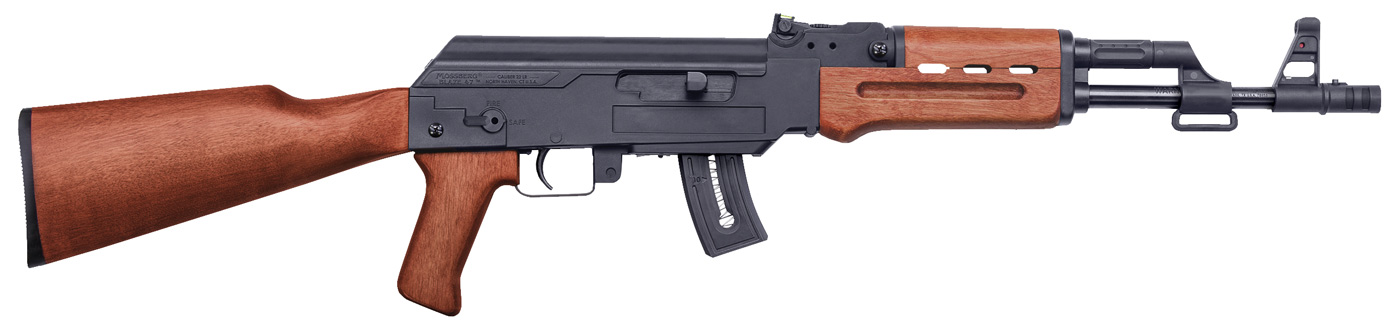 Mossberg rimfire  22 LR rifle that looks like an AK 47 with wood furniture. Mossberg  22 AK  New From Magpul and Grand Power Pistols A Little