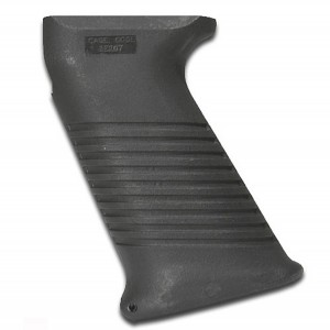 Black, textured SAW-style AK-47 pistol grip