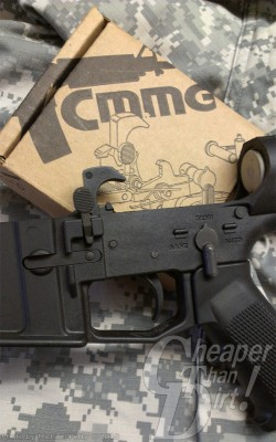 CMMG box next to a lower parts kit