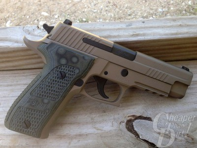 SIG Sauer P226 Scorpion right side desert tan