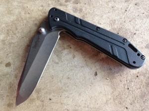 "Kershaw Thermite knife with ""Spanto"" tip"