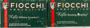 Two green boxes of Fiocchi .270 Winchester ammo