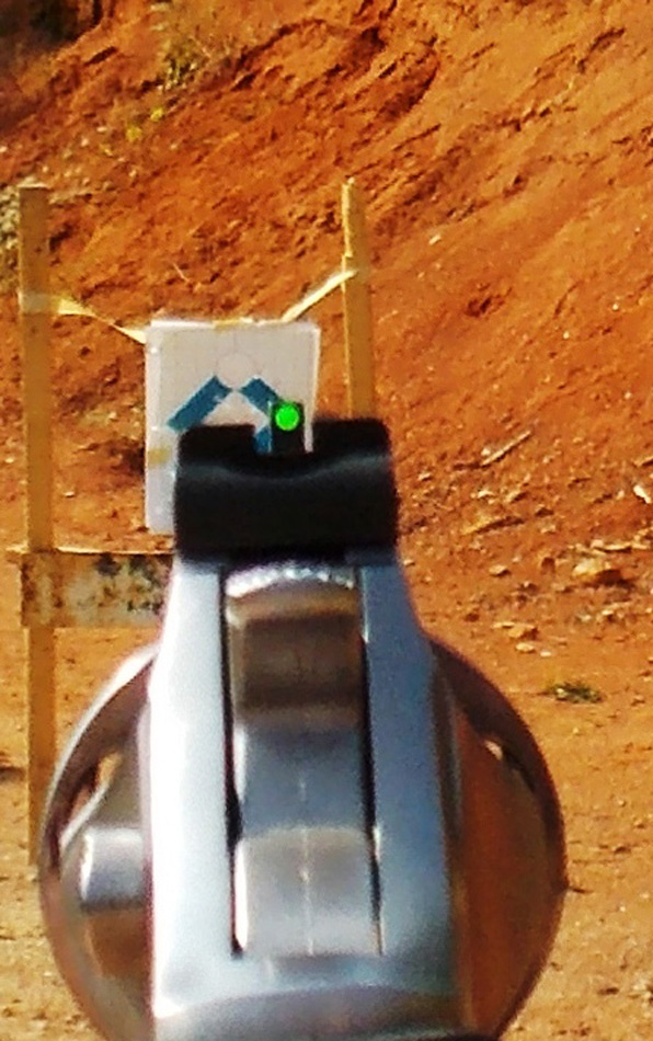 Ruger SP101 with green sights