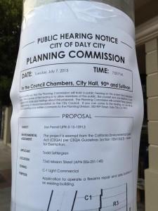 Public bill announcing city council meeting