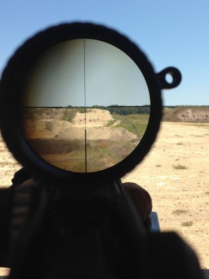 View through a riflescope