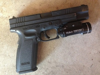 Springfield XD45 with tactical light