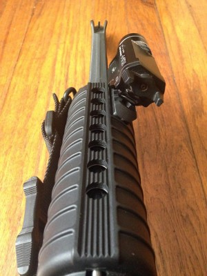 AR-15 handguard with rail mount light