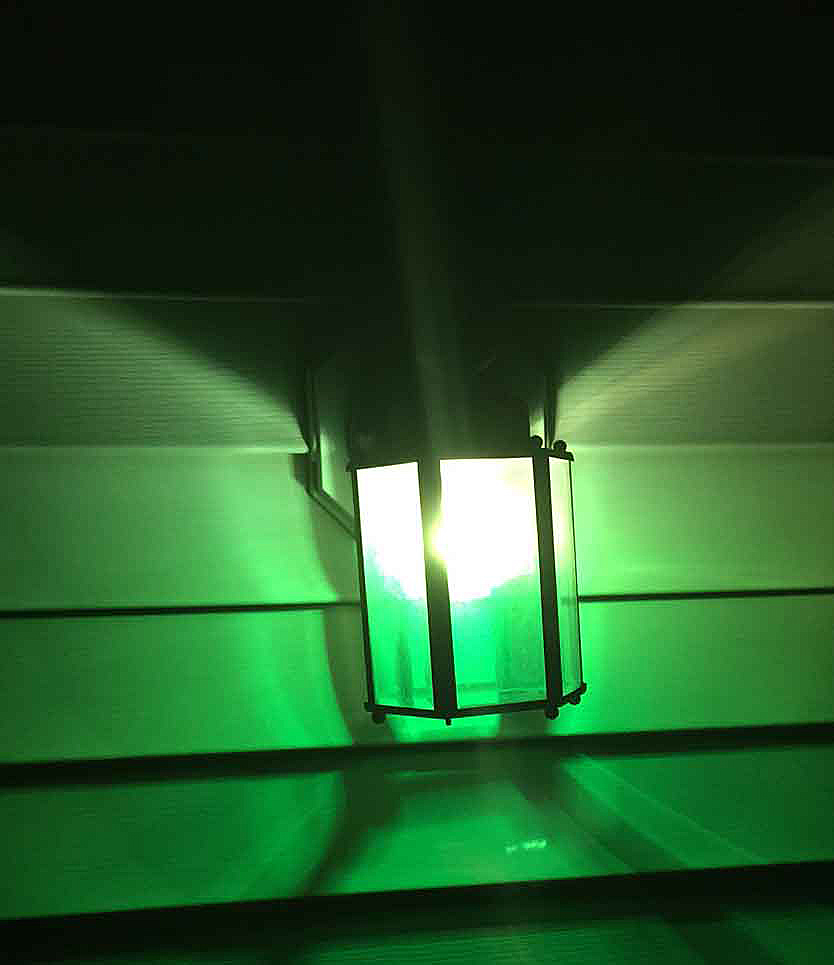 Green porch light