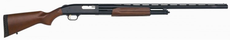 Mossberg 500 pump-action shotgun with wood stock