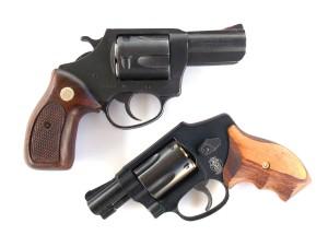 Charter Arms Bulldog revolver compared to a snub-nosed revolver
