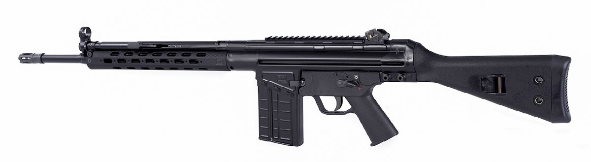 Black PTR-91 rifle