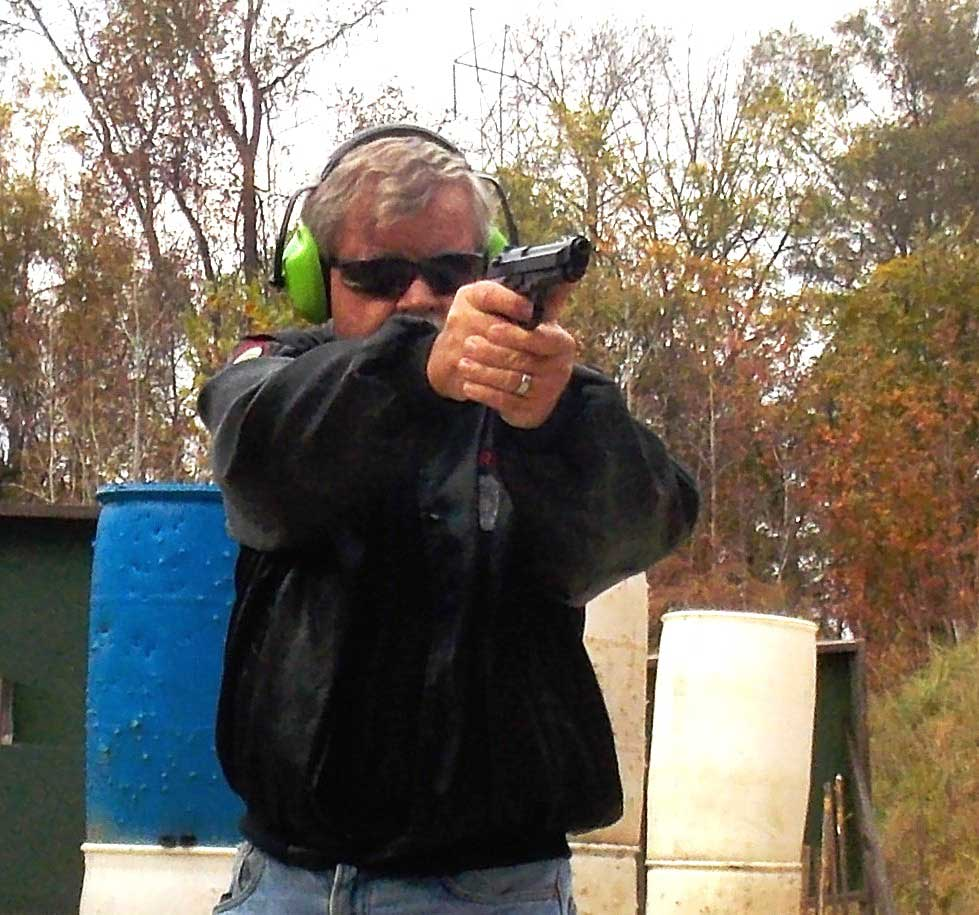 Bob Campbell shooting the Beretta M9