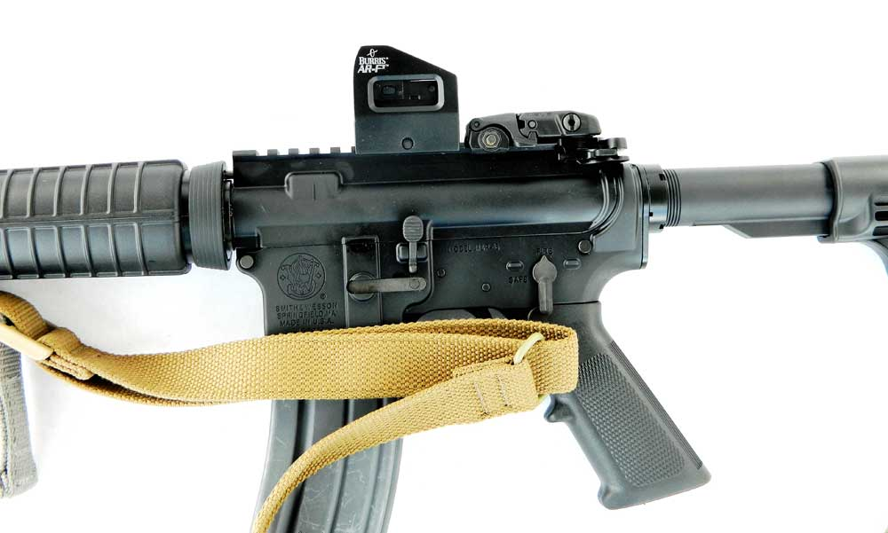 Burris AR-F3 Red Dot Sight side profile on AR-15