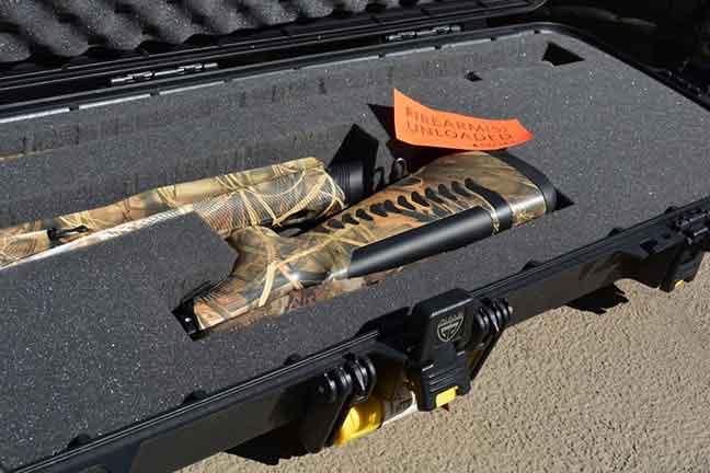 Shotgun in case