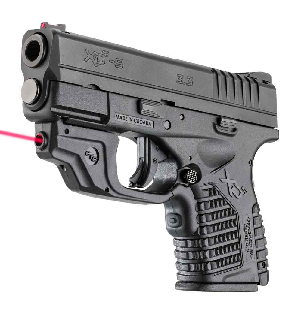 Springfield XD-S with Crimson Trace Laserguard left angle
