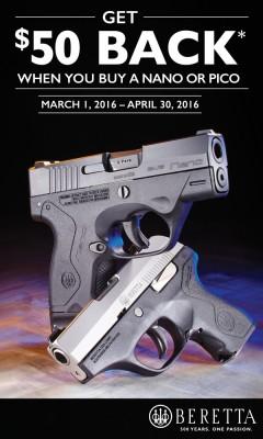 Beretta Nano and Pico pistols