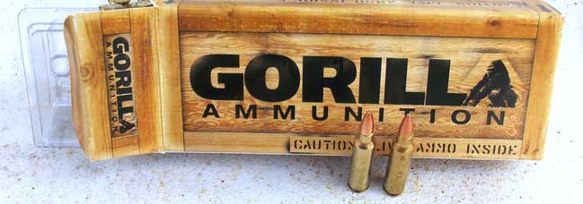 Gorilla Ammunition box with two cartridges