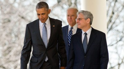 President Obama, Vice President Biden and Merick Garland