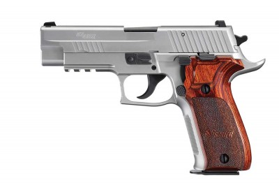 SIG Sauer P226 Ultra pistol with elongated grip frame