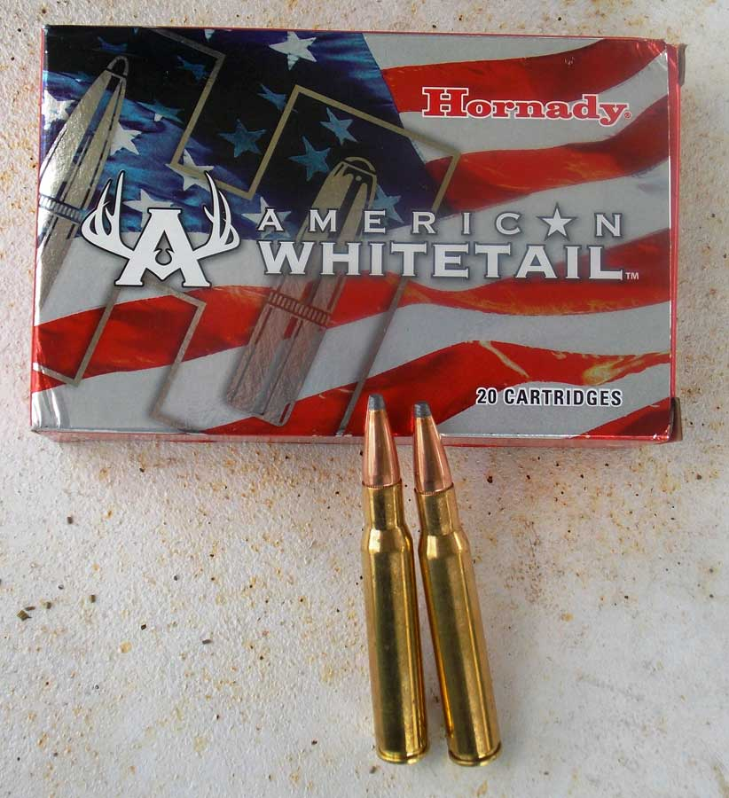 Hornady American Whitetail .30-06 bullets and box