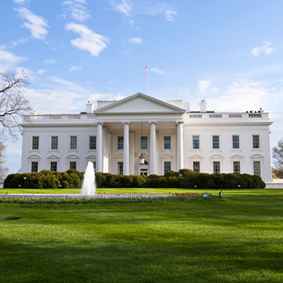 The White House front view