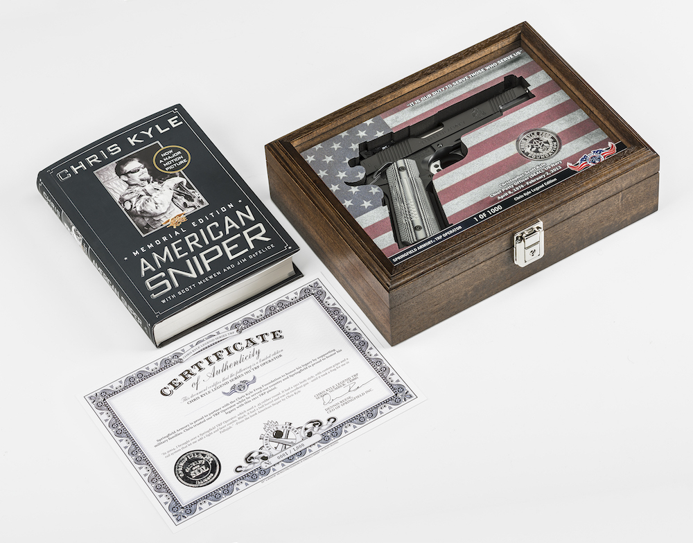Springfield Armory 1911 TRP in presentation case with book