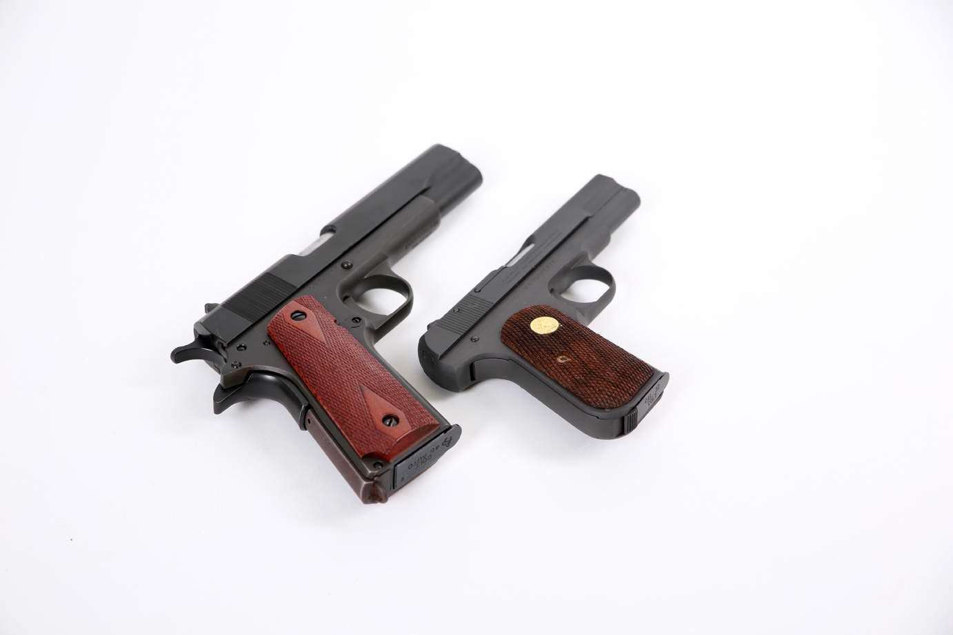 The Colt 1903 .32 compared to a Colt 1911 .45.