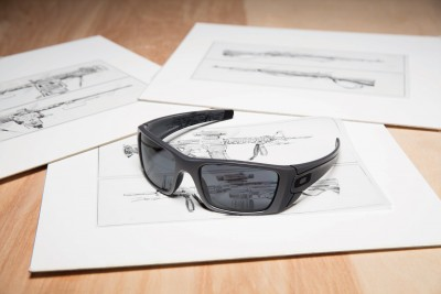 Oakley sunglasses on schematic drawing