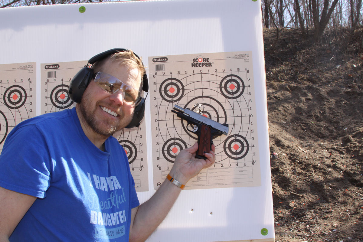 Dave Dolbee with Springfield EMP 4 9mm pistol