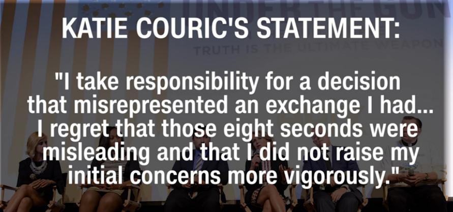 Katie Couric statement on gun control edits