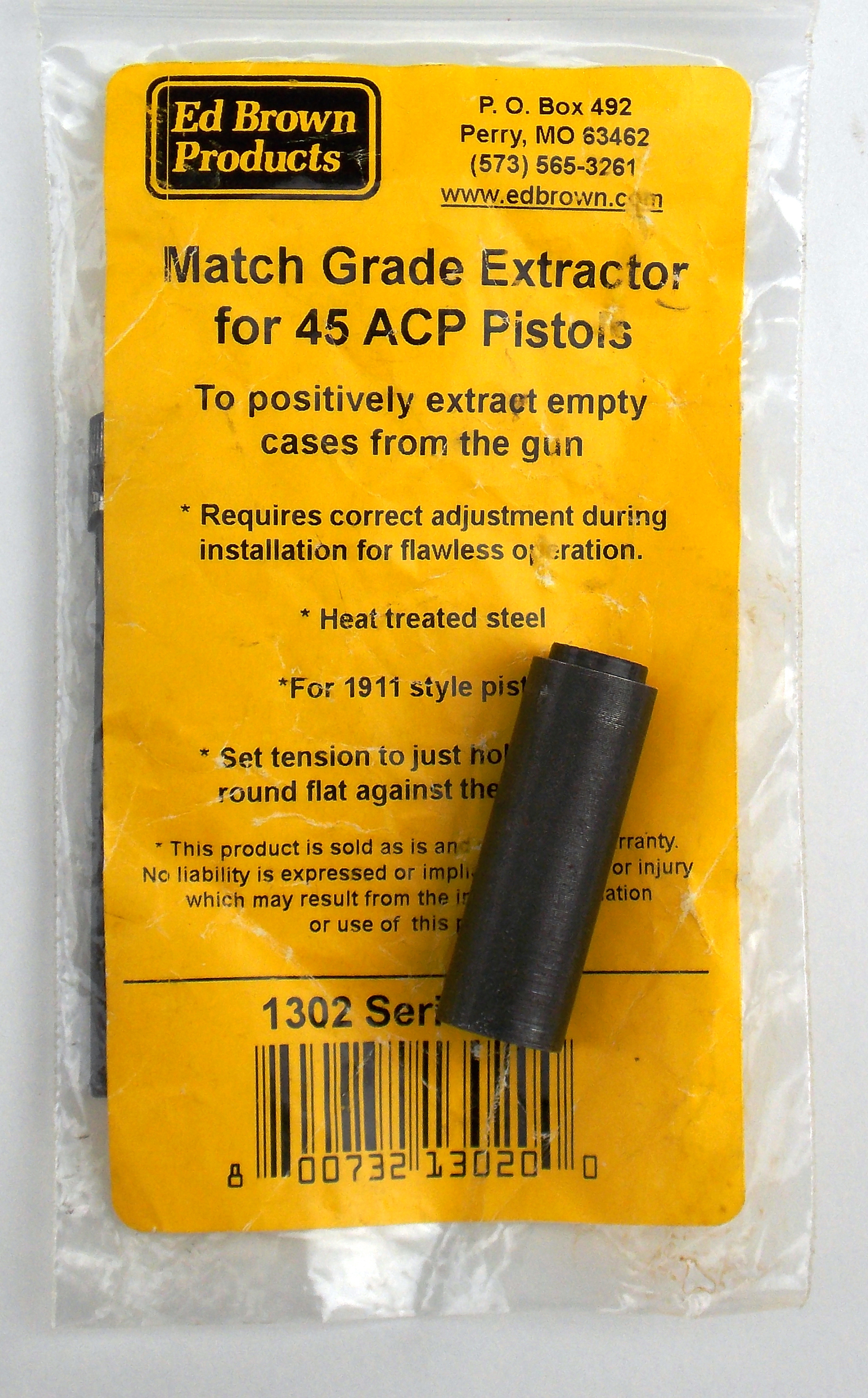 Match grade extractor for .45 ACP pistol