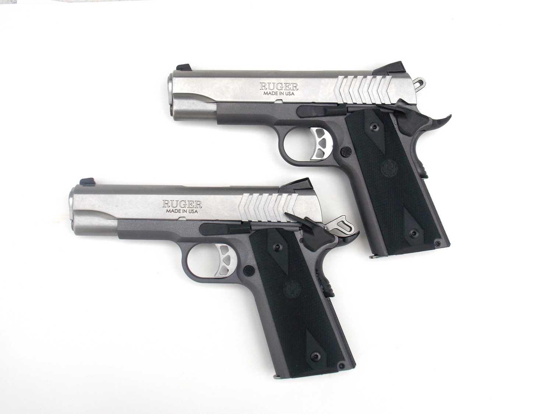 Ruger Sr1911 Pistols Stainless Finish Left Side