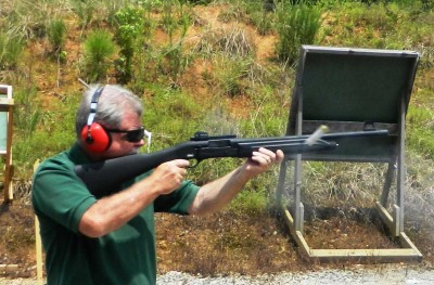 Bob Campbell shooting the Raptor shotgun