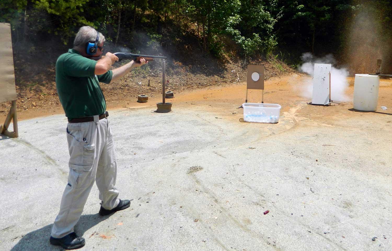 Bob Campbell shooting the Raptor 12 guage shotgun