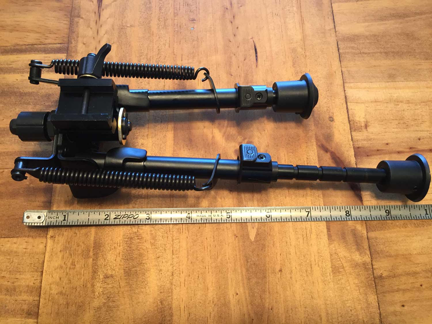 Tac Shield 6 to 9 inch heavy duty bipod with tape measure