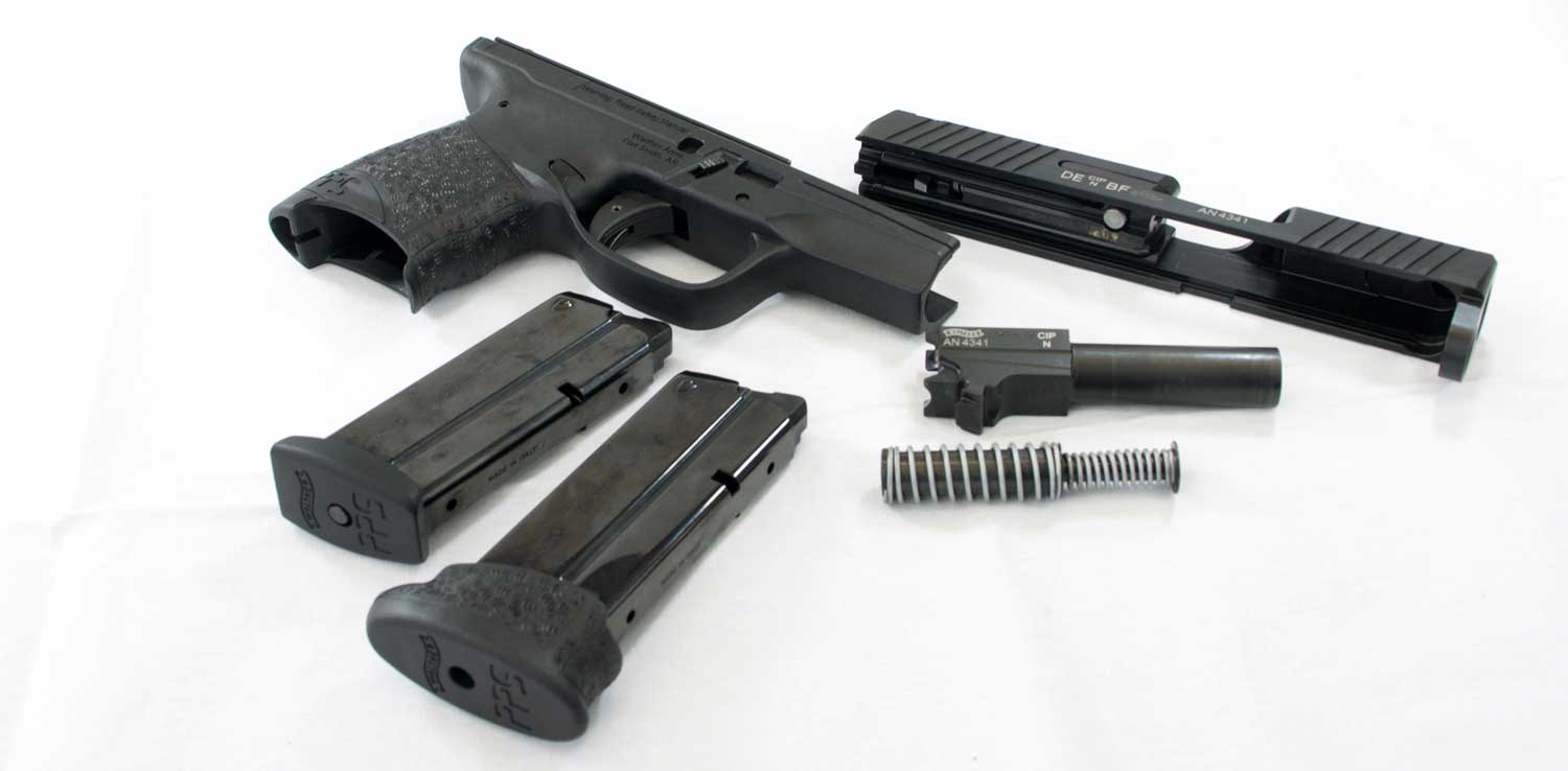 Disassembled Walther PPS M2
