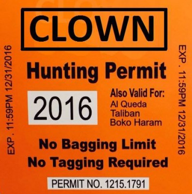 orange clown hunting permit