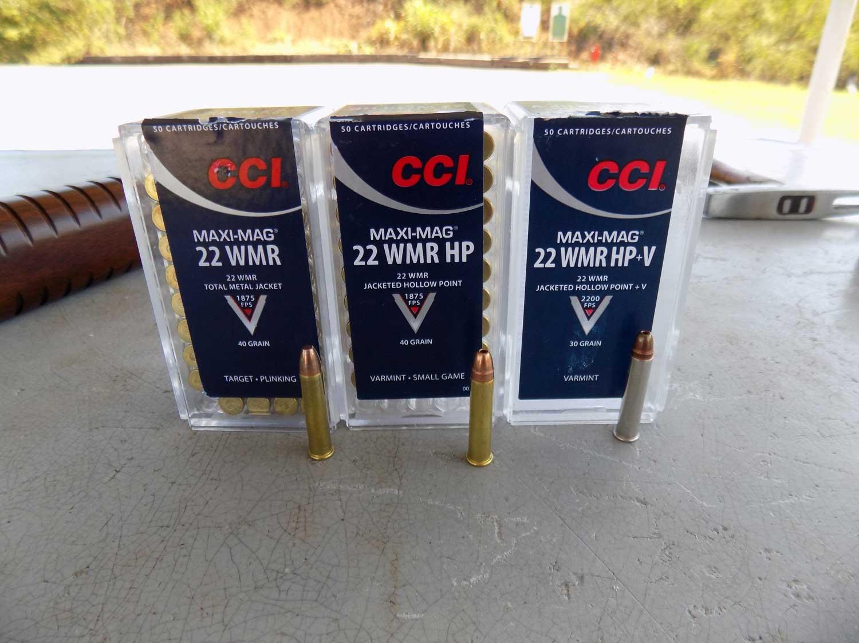 CCI Maxi-Mag .22 WMR HP ammunition