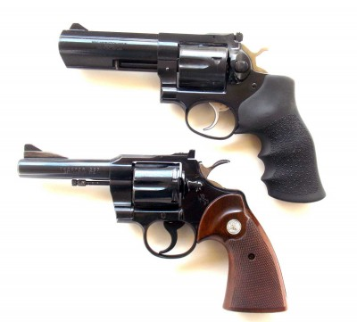 Two Ruger GP100 .41 magnum pistols