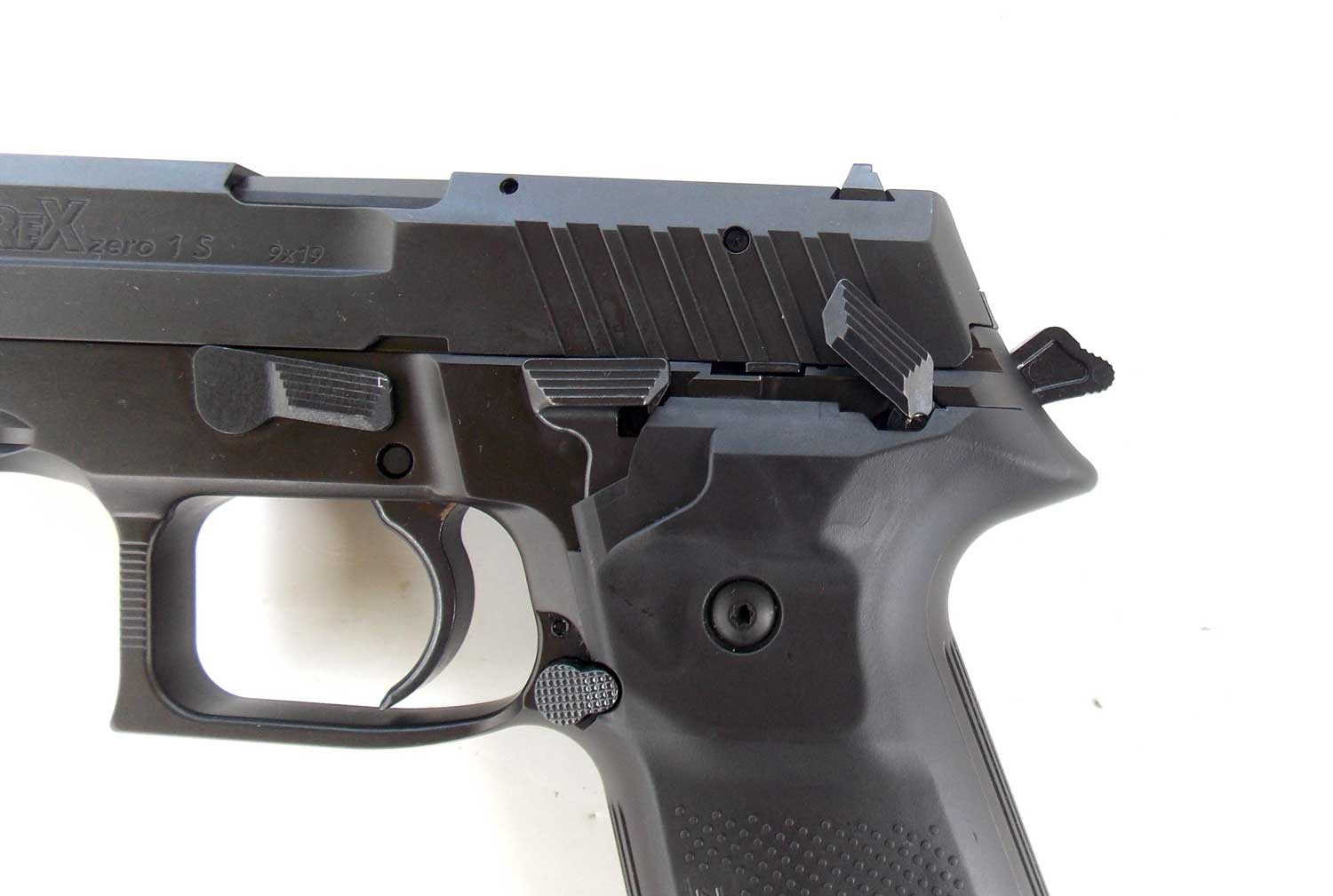 Safety on the Arex Rex Zero 1 pistol