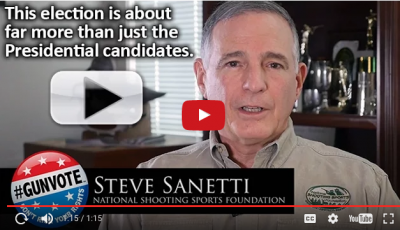 Cover of Steve Sanetti CEO of the NSSF and #GUNVOTE