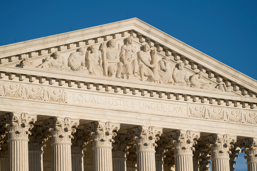 Pediment of the U.S. Supreme Court building