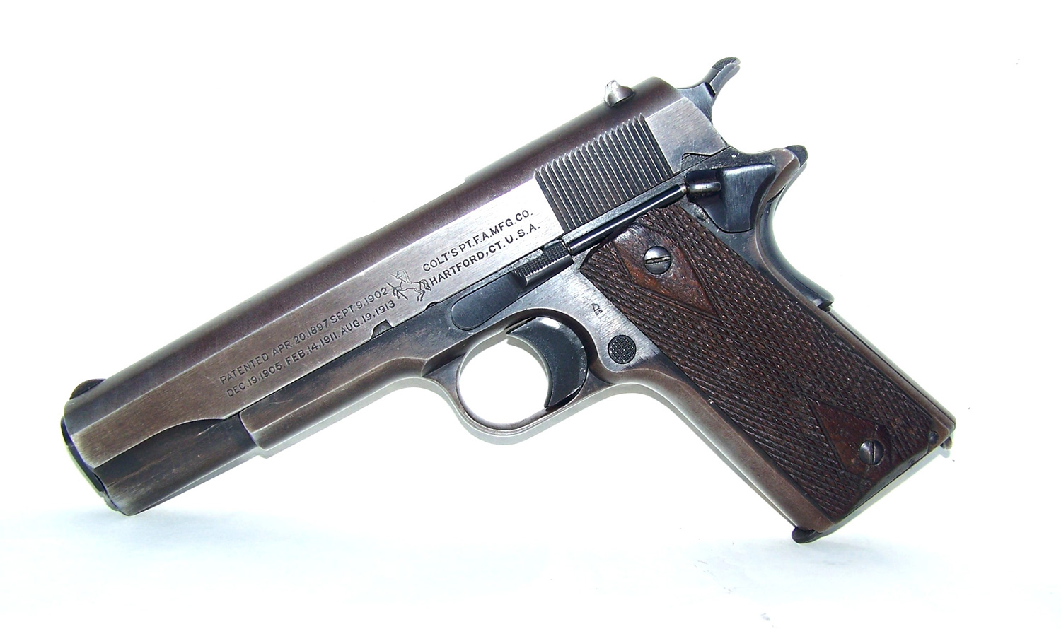 Colt 1911 pistol left side