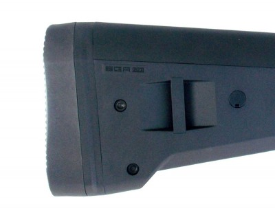 Butt of the Magpul SGA stock right